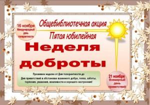 5лет Неделе доброты, 2013