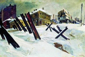 А.А. Дейнека Окраина Москвы. Ноябрь 1941 г.