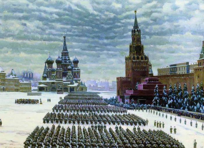 К.Ф. Юон Парад на Красной площади 7 ноября 1941 года